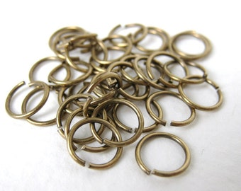Antiqued Brass Ox Open Jump Ring 8mm 20 gauge jmp0003 (100)