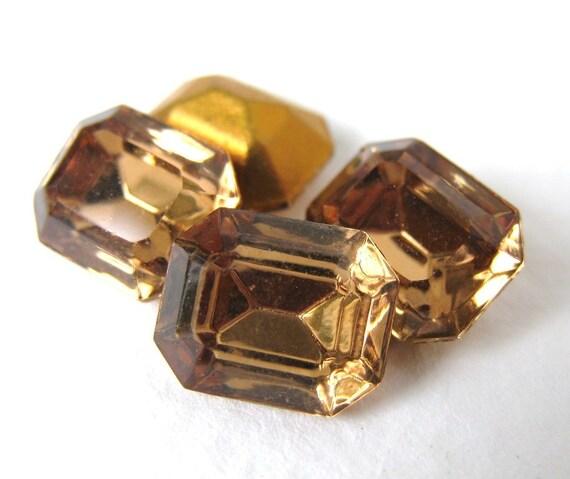 Swarovski Crystal Vintage Rhinestone Light Smoked Topaz Octagon Jewel 10x8mm swa0253 (4)