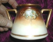 Royal Bavaria Gold Trimmed Hand Painted Sugar Bowl