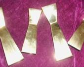 Set of 4 MODERN BRASS Candlesticks Hour Glass Shape