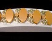 Vintage thermoplastic peach Bracelet