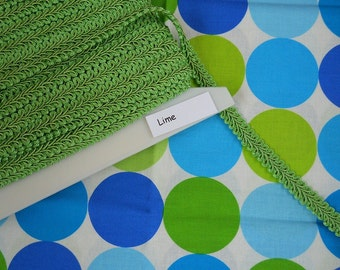 Lime Gimp Trim -- Home Decor Quality and Weight -- 3 yards -- 1/2 inch wide