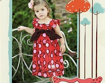 Clearance,Free Shipping Ava Tie Top Dress pattern by Izzy and Ivy