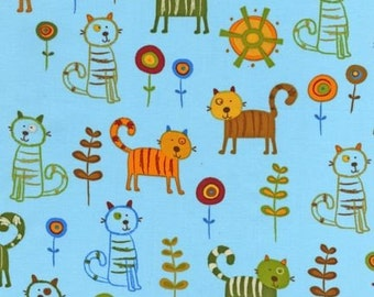 On A Whim 2 -- Cats -- Blue background -- Robert Kaufman