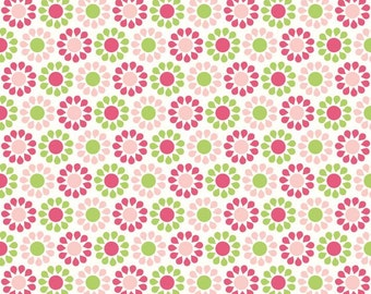 Riley Blake Designs Summer Song Green Summer Blooms fabric by My Mind's Eye
