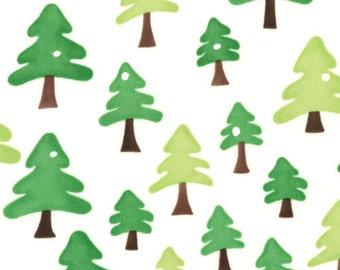 Moda Fabric Chrismas Ready Set Snow with Green Trees