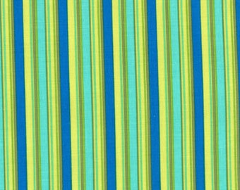House by Lily Ashbury --Stripes Veranda Multi  Olive Zest --  Moda fabric