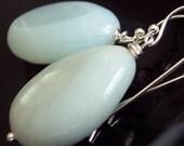 Amazonite Teardrop Earrings- FREE Worldwide Shipping