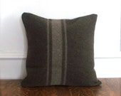 Wool Eco-Chic Pillow Cover - Italian Military - 18 x 18