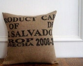 Coffee Sack Eco-Chic Pillow Cover - 16 x 16