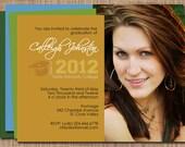 Varsity 2015 Custom Photo Graduation Invitation