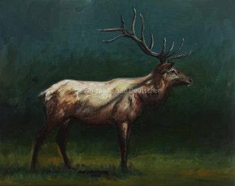 Elk - print from painting