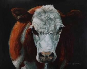 Hereford 11x14 print