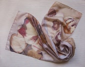 Seashell in papayawhip hand painted silk scarf  MADE TO ORDER