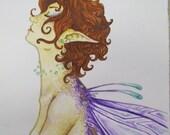 Contemplation - original watercolor 4x6