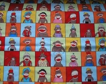 Funky Monkey Yearbook Sock Monkey Fabric    .... REALLY CUTE