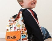 Preschool Backpack - IMMEDIATE DOWNLOAD - a PDF sewing pattern - free shipping