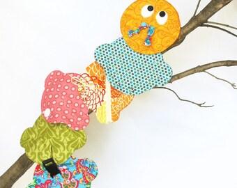 Learn to Dress Caterpillar, IMMEDIATE DOWNLOAD - pdf sewing pattern