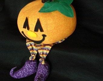 Jack-o-Lantern Pumpkin Friend, a mix and match toy, a PDF sewing pattern