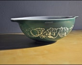 RESERVED for Gary in Pensacola SALE Pyrex Green Promotional Cinderella Salad Bowl