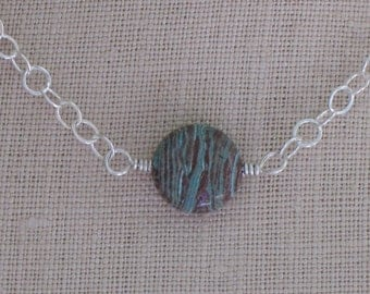 Mint Chocolate Chip necklace