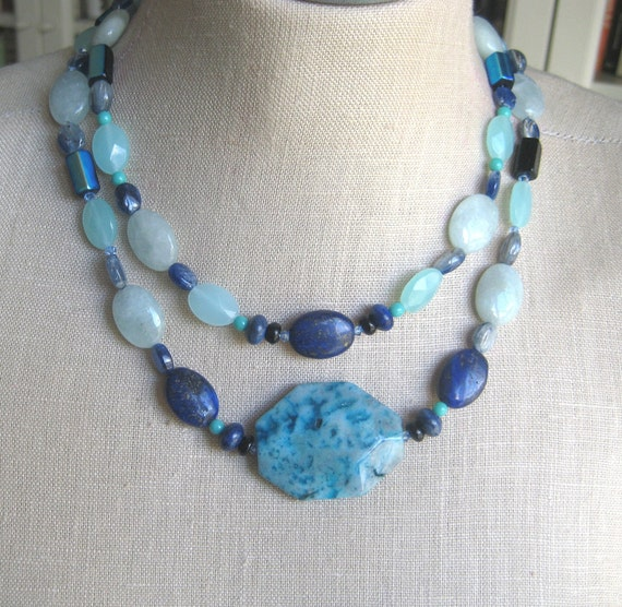 The Blues double strand necklace OOAK
