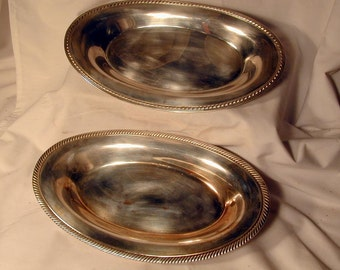 Pair of Silver Plated Bread Trays