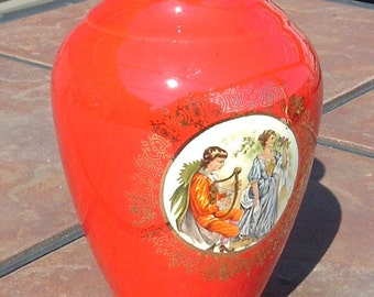 Red Victorian Style Lovers Vase
