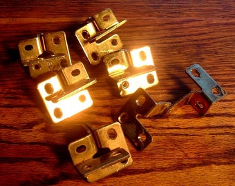 Set of 6 Solid Brass Door Hinges