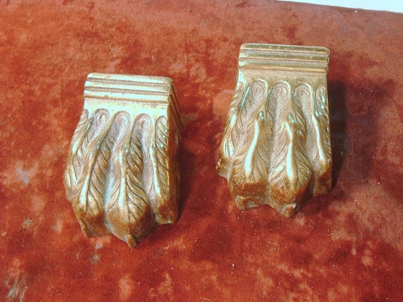 Pair of Cast Brass Claw Table Feet