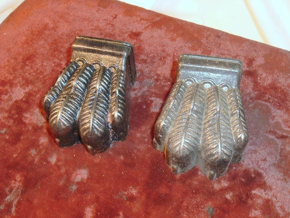 Pair of Cast Metal Claw Table Feet