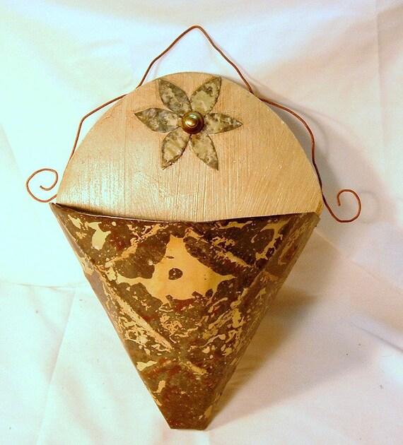 Vintage Ceiling Tin Sconce