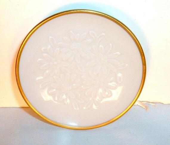 Miniature Langenthal Embossed Flower Porcelain Plate