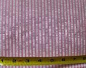 SALE 6 YARDS Vintage Pink Seersucker Cotton Fabric