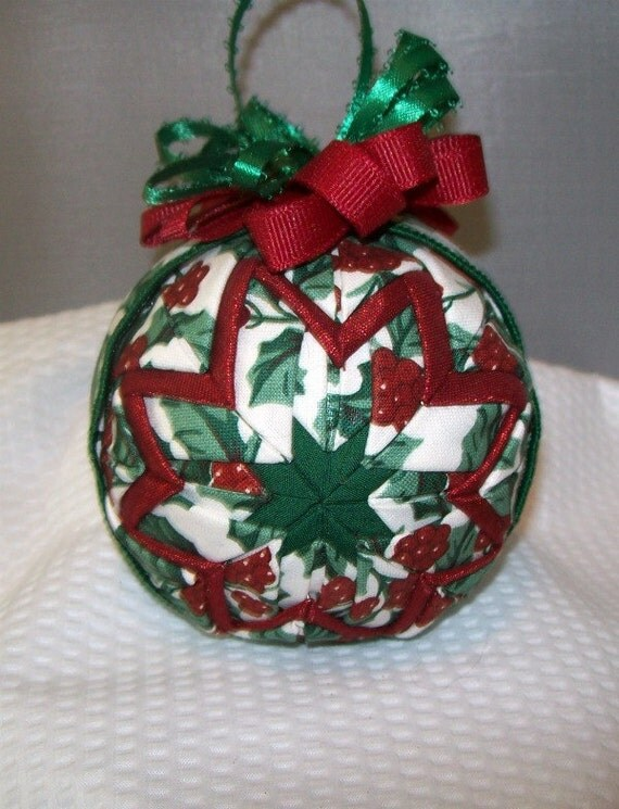 Quilted Christmas Ornament with Longaberger American