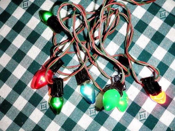Retro Christmas String Lights : Vintage Christmas Tree Lights String of Christmas by BettyandBabs