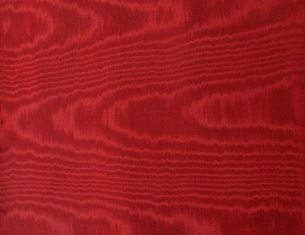Silky moire fabric remnant in a deep burgundy by bettyandbabs