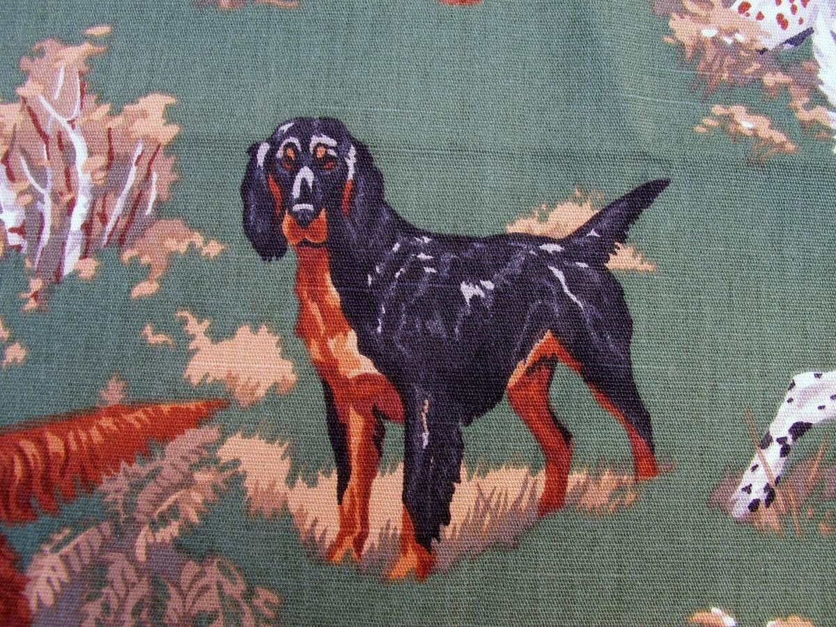 Bird Dog Hunting Decorator Fabric Remnant By Bettyandbabs
