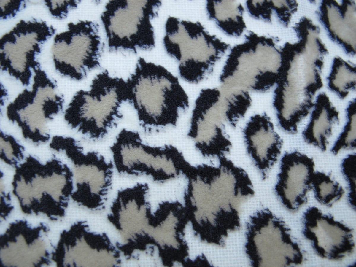 Velvet Leopard Print Leopard Fabric Remnant Animal By