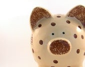 Personalized Piggy Bank - Coffee Beans - with hole in the bottom - Ready to Ship - Order by December 1st for Christmas