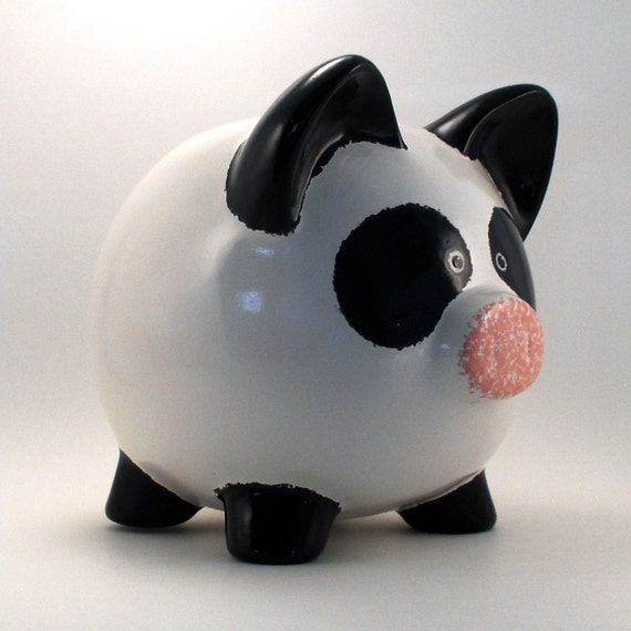 Ceramic Panda Bear Piggy Bank Personalized Free