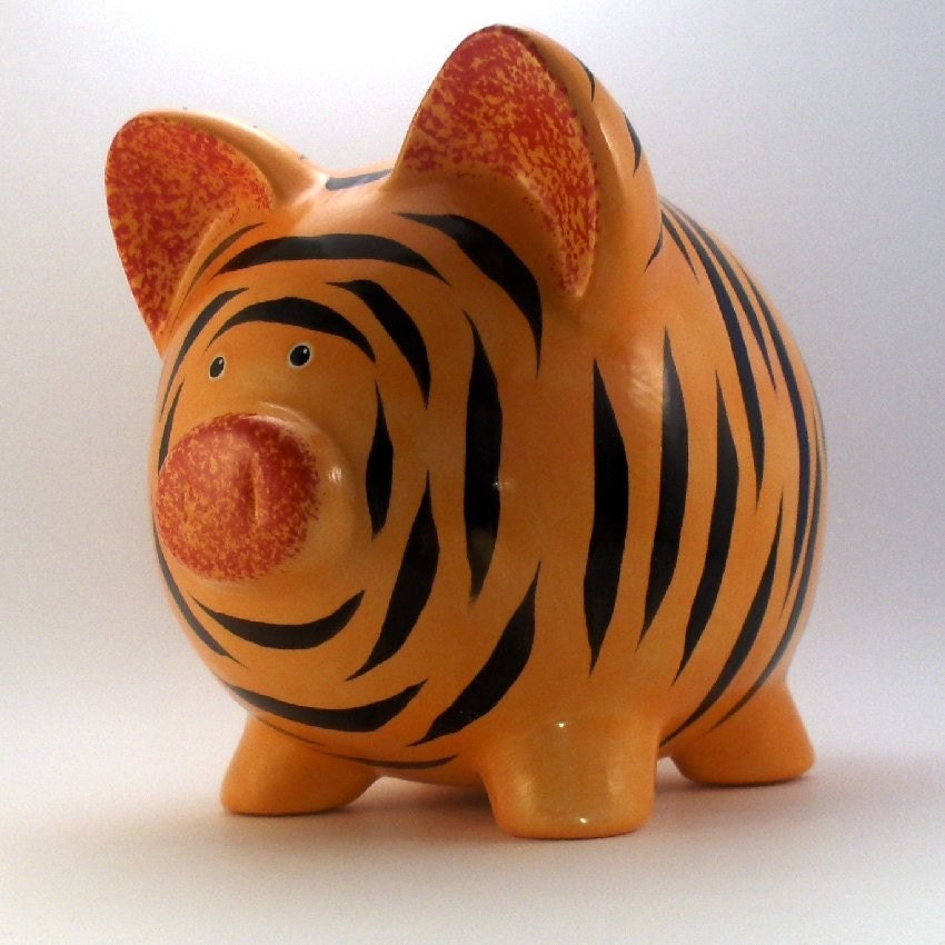 Ceramic Tiger Piggy Bank Personalized Free