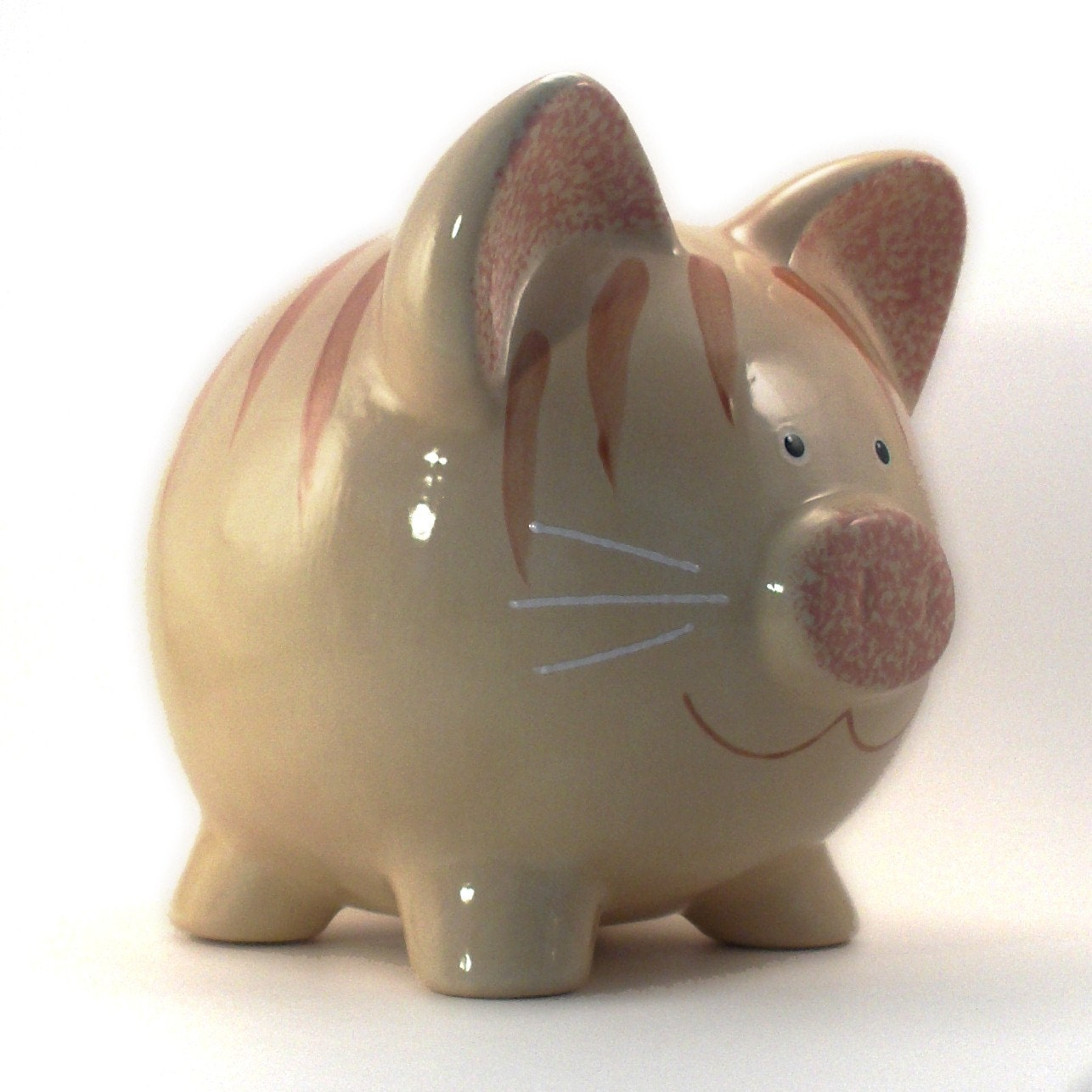 Ceramic Kitty Cat Piggy Bank Personalized Free