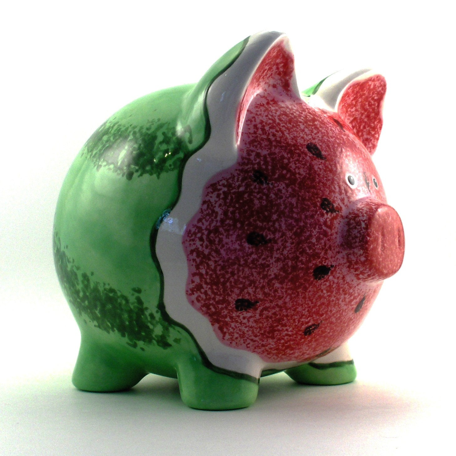 Ceramic Watermelon Piggy Bank Personalized Free