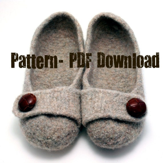 PDF Pattern Download- French Press Felted Slippers