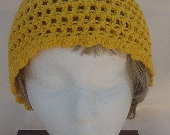 Goldenrod Crocheted Hat