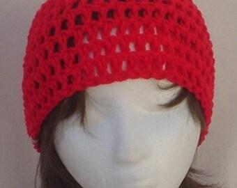 Cardinal Crocheted Hat