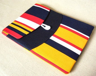 SALE ipad cover - lexington - vintage nautical stripe canvas tablet cover - ready to ship - free shipping