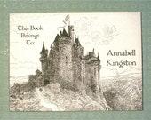Customized Bookplate - Castle in the Sky