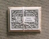 Custom Ex Libris Book Plates - 1898 Scroll